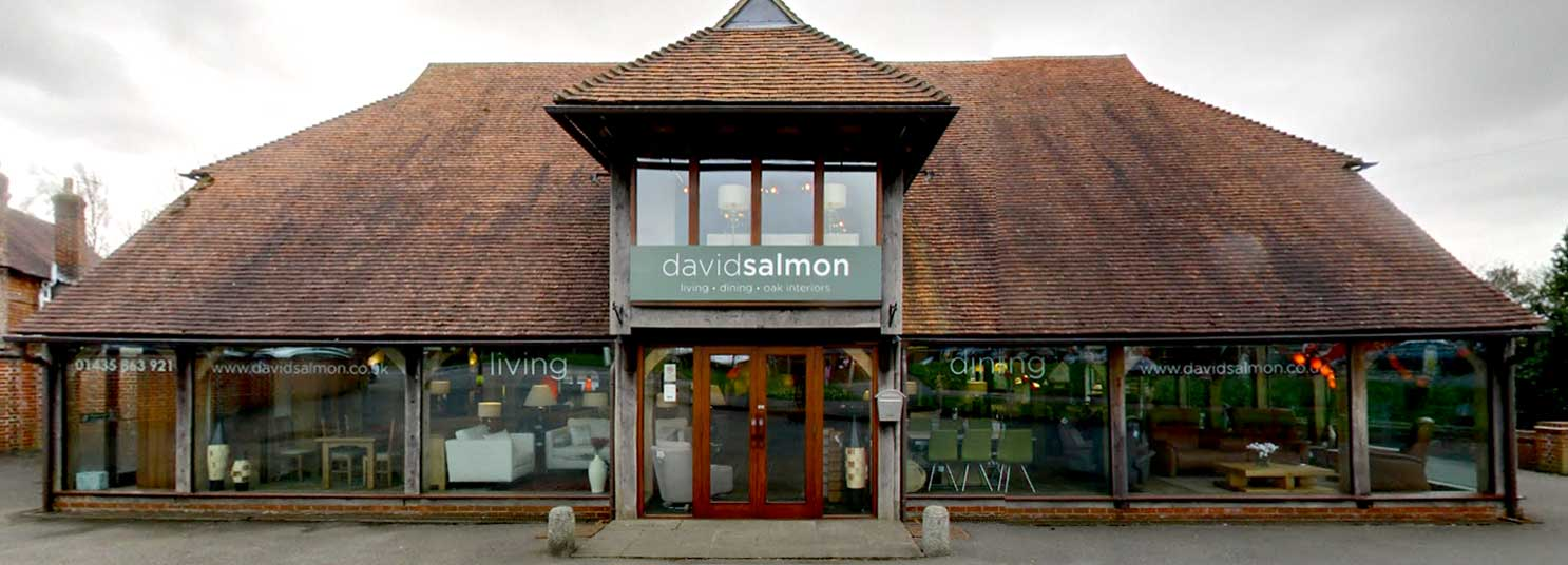 David Salmon furniture in Sussex - arm close