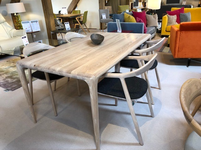 David Salmon Latus table and 4 chairs by Artisan