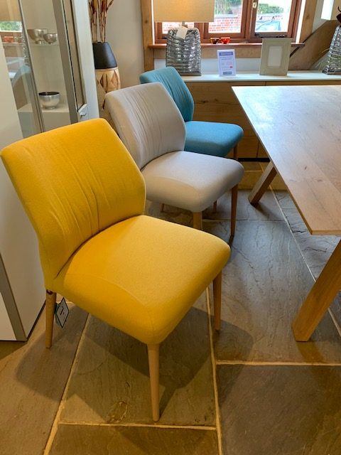 David Salmon 6 dining chairs in mixed colours
