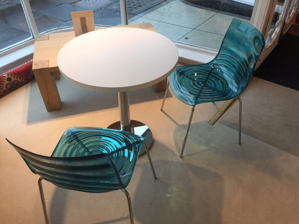 David Salmon Table & 2 Stackable Chairs by Connubia