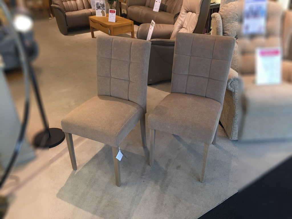 David Salmon 2 Carre High Back Dining Chairs