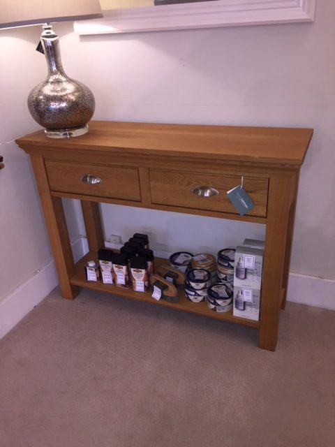 David Salmon Solid Oak Console Table.