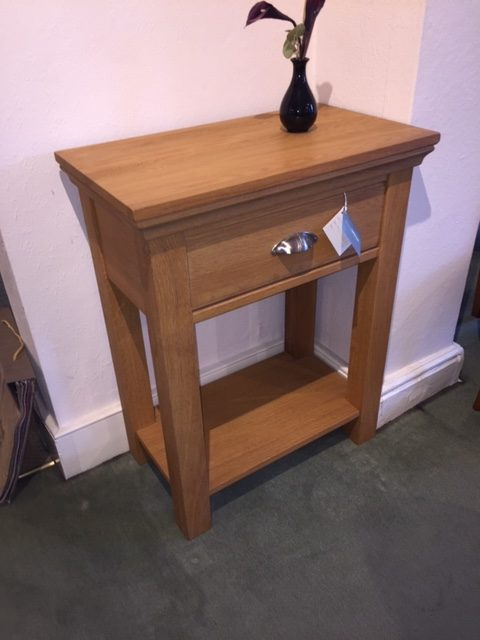 David Salmon Solid Oak Hall Table.