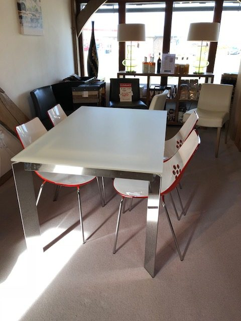 David Salmon Connubia Baron dining table and 4 Jam chairs
