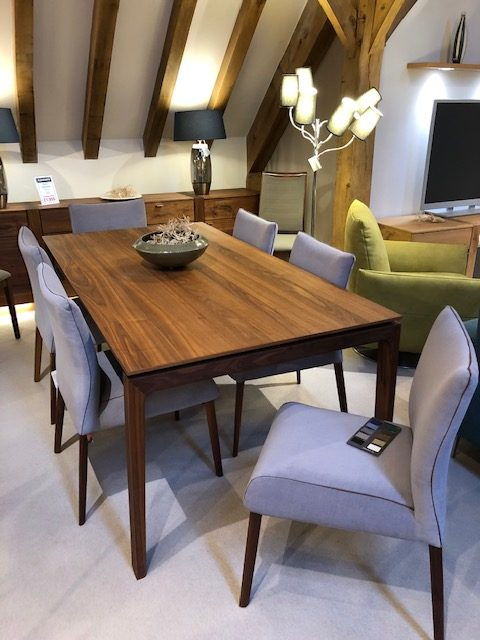 David Salmon Siegfried Table and 6 chairs in Walnut finish