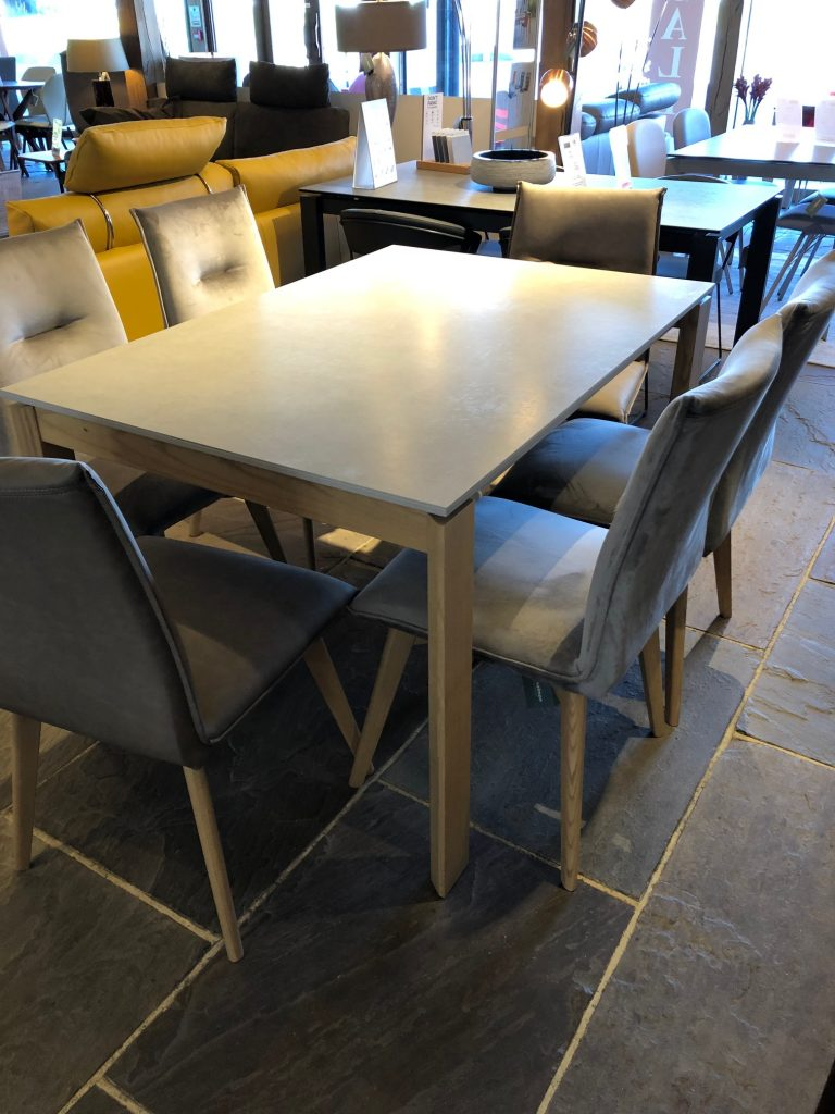 David Salmon Emminence ceramic table and 6 chairs