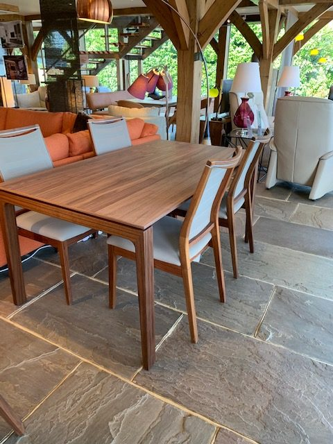 David Salmon Walnut Table and 4 chairs