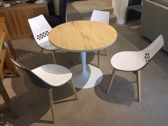 David Salmon Planet Table & 4 Chairs By Connubia.