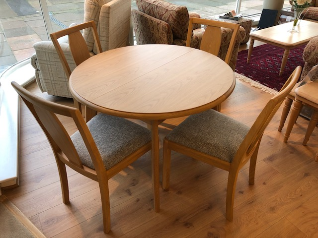 David Salmon Stockholm Round Table & 4 Chairs