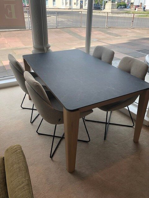 David Salmon Oxford Ceramic Extending Table & 6 Chairs