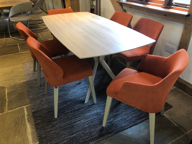 David Salmon Eclipse Fixed Table & 6 Chairs